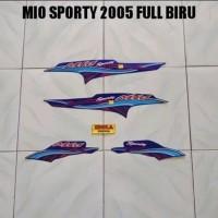 striping lis mio sporty 2005 full biru
