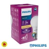 PHILIPS Lampu LED MyCare 8W Kuning Bohlam LED Bulb My Care 8 Watt WW