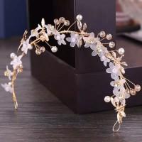 headpiece bunga hiasan sanggul rambut pesta pengantin 04