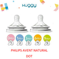PHILIPS AVENT Teat Natural 2pcs | Nipple / Dot Natural Botol Susu - 0m New Born