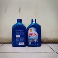 Oli Mesin Shell Helix HX-7 Berhologram ORI SAE 10W-40 Kemasan 1 Liter