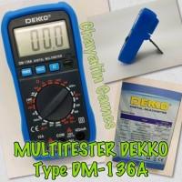 MULTITESTER AVOMETER TESTER DIGITAL Merk DEKKO Type DM 136A