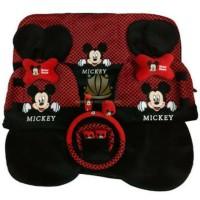 Sarung jok bantal mobil minnie mickey mouse 18 in 1 2 baris untuk