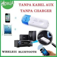 Dongle USB Bluetooth Receiver Audio Music Tanpa Kabel AUX With Mic