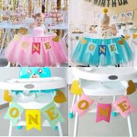 Dekorasi dinding Ulang tahun 1st Birthday Baby Party Decoration ONE