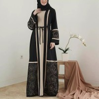 Baju Gamis Wanita Dress Abaya arab Hitam Bordir by Noer Abaya Boutique