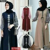 SOIMAH DRESS Balotelly Baju Hijab Wanita Trend Terbaru Casual Kekinian