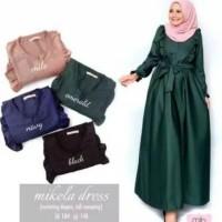 GAMIS MUSLIM / DRESS WANITA MIKELA / SLETING DEPAN / ATASAN MENYUSUI