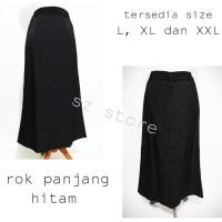 rok hitam panjang polos size XL