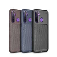 Case Realme 5 Pro / Realme 5 Rugged Armor Silicone Carbon Soft Casing - Realme 5, Hitam