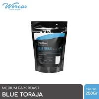 WORCAS Arabica Coffee Blue Toraja 250 Gram   Medium Dark Roast