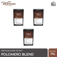 WORCAS Kopi Polomero Espresso Blend 3 Kg (Biji/Bubuk)