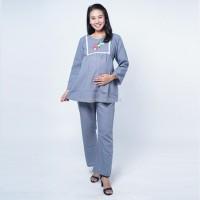 Baju Setelan Kerja Ibu Hamil Bordir Bunga Dada Pauline Cloth - STJ 104