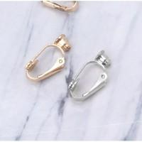 Anting Jepit / Clip on earrings bahan aksesoris
