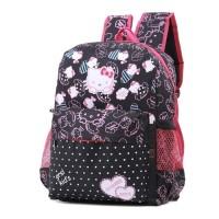 5853FJU, tas sekolah/ransel jeans anak perempuan/cewek, Hello Kitty