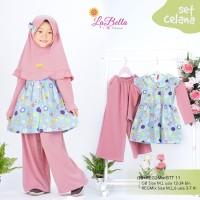 baju Muslim kulot tunik anak labella size M usia 3 tahun