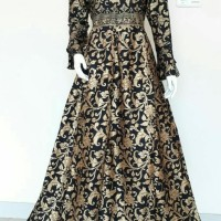 gamis batik katun Prada emas baju wanita