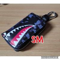 dompet gantungan kunci mobil motor motif BATHING APE