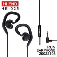 EARPHONE WITH EARHOOK FOR SPORT HEAVY BASS HEADSET HANDSFREE HI END