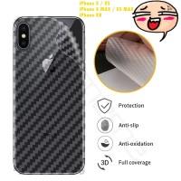 Garskin Carbon Iphone X XS X MAX XR Skin Back 3D Anti Gores Belakang