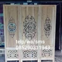 Penyekat Ruangan Masjid Mushola Kayu Jati