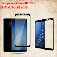 Samsung A8 2018 Layar 5.6TemperedGlass/Anti Gores Kaca Full Lem 5D/9D