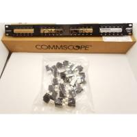 Patch Panel AMP 24 Port cat6 Patch Panel commscope