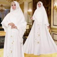 Baju Busana Wanita Gamis Pesta Hijab Inez Syari Putih Termurah