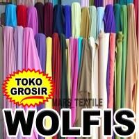 PREMIUM - Kain Bahan Wolfis Wolvis Wolpeach Wolpis Meteran