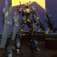 Bandai MG 1 100 Gundam Unicorn Banshee ova (sudah rakit)