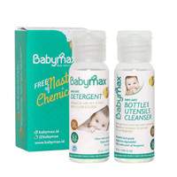 Babymax Trial Bottle Cleanser Dan Detergent Baby Max Botol 25ml Aman