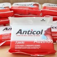 Terlaris Anticol Throat Lozenges 3 Packs X 10 Medicated Lozenges