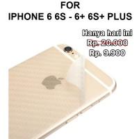 Skin carbon iPhone 6 6s - 6 6s Plus stiker anti gores belakang garskin