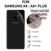 Skin carbon Samsung A8 - A8 Plus stiker anti gores belakang garskin hp