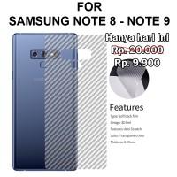 Skin carbon Samsung Note 8 - Note 9 stiker anti gores belakang garskin