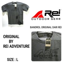 Kaos outdoor t-shirt pria rei original size L
