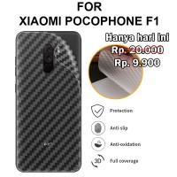 Xiaomi Pocophone F1 stiker anti gores belakang back cover SKIN CARBON