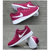 Sepatu Wanita Nike Tanjun Trainer Red Maroon Women Sneakers Cewek Run