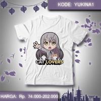 Kaos Anime Bang Dream - Yukina Minato Cat Lovers Roselia