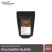 Kopi Polomero Espresso Blend 200 Gram (Biji/Bubuk) | Worcas Coffee