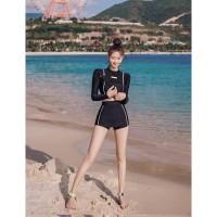 Lexy Longhand Baju Renang Wanita Lengan Panjang Murah Bikini Polos Bra