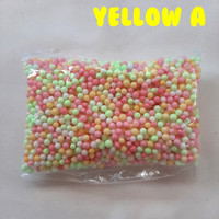 Coloured Foam / Styrofoam Warna / Gabus Butir Wrna Mix Yellow Stabillo