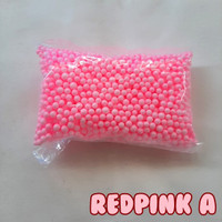 Coloured Foam / Styrofoam Warna / Gabus Butir Basic Red-Pink