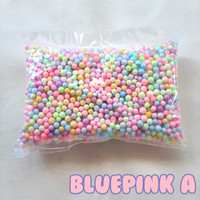 Coloured Foam / Styrofoam Warna / Gabus Butir Warna Blue-Pink