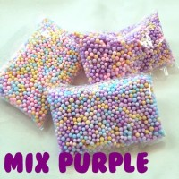 Coloured FOAM / Styrofoam Warna / Gabus Kecil Warna Mix Purple