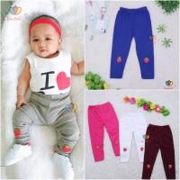 Legging Strawberry uk Bayi - 6 Tahun / Leging Kaos Anak Perempuan Baby