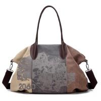 Tas Selempang Wanita Besar Bahan Kanvas Premium - Retro Graffiti Bag