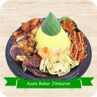 Paket Nasi Tumpeng Mini Ayam Bakar Jimbaran / Nasi Kuning Katering Aya
