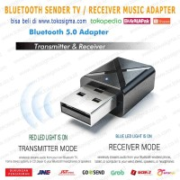 BLUETOOTH TRANSMITTER TV AUDIO SENDER USB or RECEIVER MUSIC SPEAKER