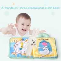 Buku Kain Bayi 3D Lembut Buku Bantal Buku Cerita Mainan Puzzle Awal Be